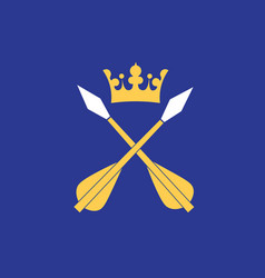 Flag dalarna is a historical province in vector