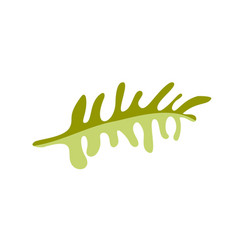 flat abstract green plants flower herbs vector image