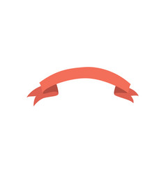 Flat ribbon banner icon isolated vector