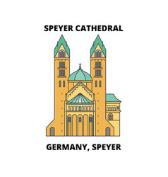 germany speyer speyer cathedral line icon vector image