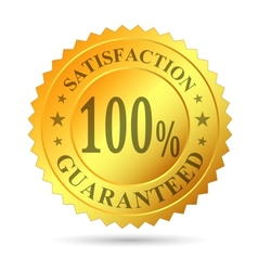 Gold Badge Satisfaction Guarantee vector