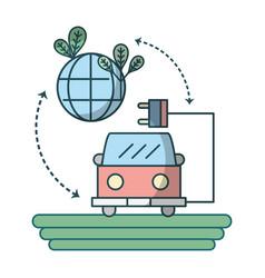Green energy cartoon vector