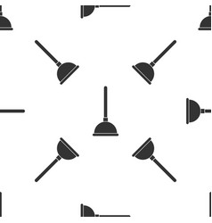 grey rubber plunger with wooden handle for pipe vector image