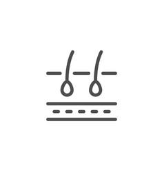 Hair scheme line icon vector