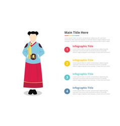 hanbook korea uniform infographics template with vector image