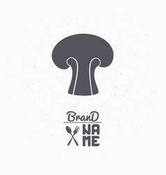 hand drawn silhouette of mushroom vector image