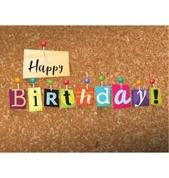 Happy Birthday Concept vector image