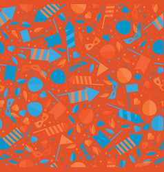 Happy carnival festive seamless pattern with mask vector