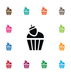 Isolated cupcake icon sweet element can be vector