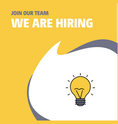 join our team busienss company seo bulb we are vector image