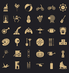 Kid thing icons set simple style vector