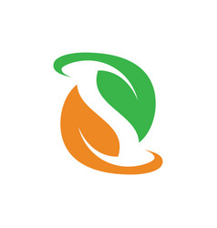 Leaf ecology icon logo image vector