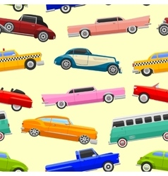 Limousine seamless pattern vector image