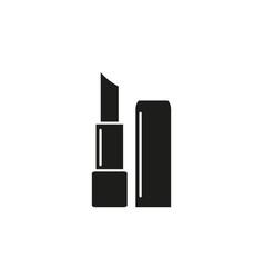 lipstick black icon vector image