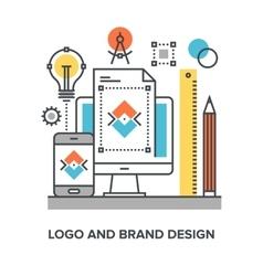 Logo and brand design vector