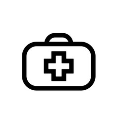 medical bag line icon outline sign linear style vector image