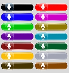 microphone icon sign Big set of 16 colorful modern vector image