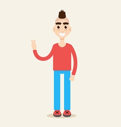 Mohawk hairstyle character vector