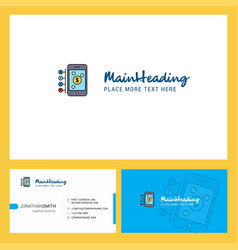 Money through smartphone logo design with tagline vector