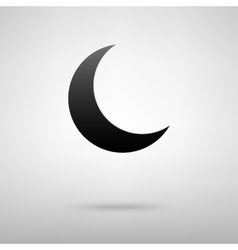 Moon black icon vector image