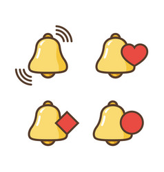 notification bell icon new message bell icons vector image