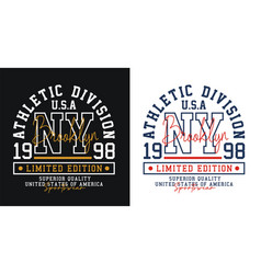 ny brooklyn sport typography t-shirt graphics vector image