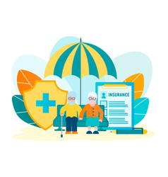 Pension insurance vector