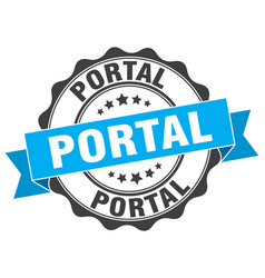 Portal stamp sign seal vector