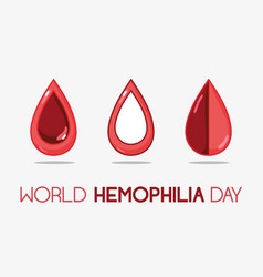 Red blood drops to hemophilia day vector