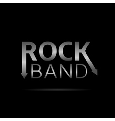 Rock band text vector