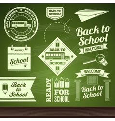 School set labels vector