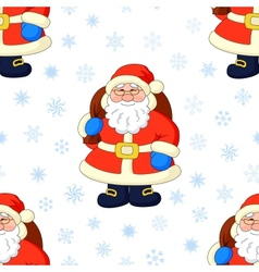 Seamless background Santa Claus and snowflakes vector image