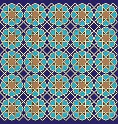 Seamless islamic ornament geometric art vector