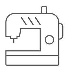 Sewing machine thin line icon electric textile vector