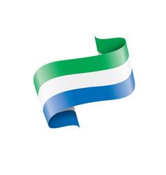 Sierra leone flag on a white vector