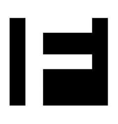 simple elegant logo letter f premium vector image