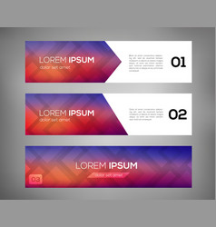 simple geometric banners 01 vector image