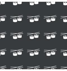 Straight black sushi pattern vector