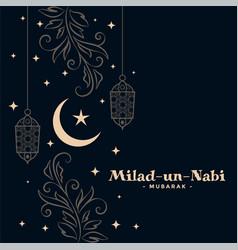 Stylish milad un nabi festival beautiful vector