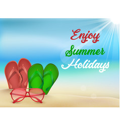 summer beach holiday background vector image