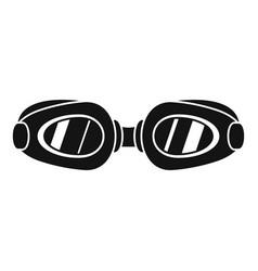 swim glasses icon simple style vector image