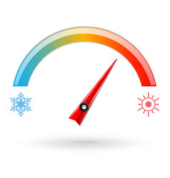 Temperature scale weather indication vector