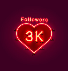 Thank you followers peoples 3k online social vector