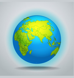 The Earth template vector image