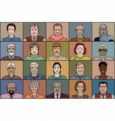 Twenty adult people vector
