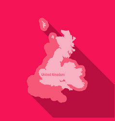 united kingdom uk regions map in flat style with vector image
