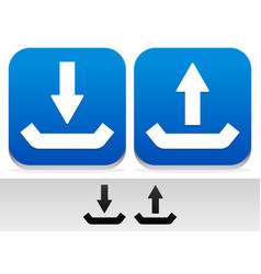 upload download buttons and symbols vector image