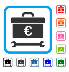 euro toolbox framed icon vector image