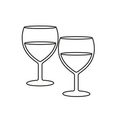 glasses for wine icons vector image