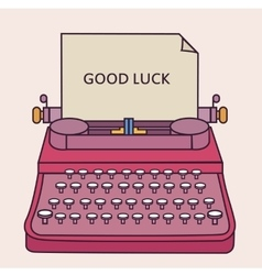 good luck type writer thin line style vector image vector image